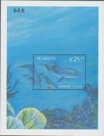 O) 1999 NICARAGUA,  SPOTTED DOLPHIN - WHALE ODONTOCETE, SOUVENIR MNH - Nicaragua