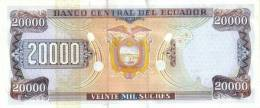 ECUADOR P. 129f 20000 S 1999 UNC - Ecuador