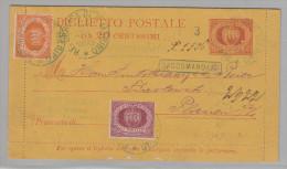 San Marino (1892) - Biglietto Postale Raccomandato Spedito Da Otto Bickel Per La Sassonia - Lettres & Documents