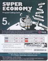 GREECE - Astronaut, BPS Prepaid Card 5 Euro(thick Plastic, Matt Surface, CN : Normal 0), Used - Greece