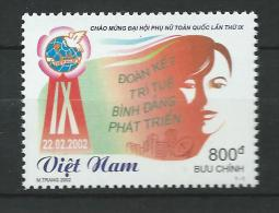 Vietnam Viet Nam 2002 Welcome To 9th Nationwide Women´s Congress.MNH - Viêt-Nam