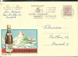 Publibel Obl. N° 1828 (Bière; Bier:   BERGENBIER, Suisse; Cervin, Montagne) Obl: Antwerpen - Publibels