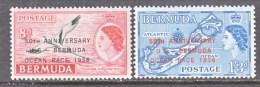 BERMUDA  166-7   *     BOATS  YACHT  RACE   MAP - Bermuda