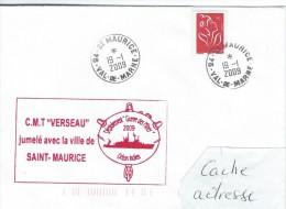 11914  C.M.T. VERSEAU Jumelé Avec La Ville De SAINT-MAURICE - VAL De MARNE - 2009 - Poste Navale