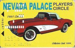 Nevada Palace Casino 1961Corvette Slot Card - Casino Cards