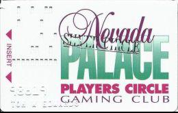 Nevada Palace Casino Players Circle Gaming Club Slot Card With Silver Circle Hot Stamp - Casino Cards