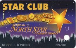 Mohican North Star Casino Bowler WI Slot Card - With 1-800-775 CASINO Phone# - Casino Cards
