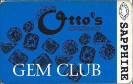 Otto´s Casino Black Hawk CO Gem Club Card With Barcode Sticker On Back - Casino Cards