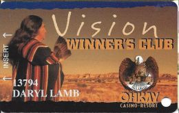 Okhay Casino San Juan Pueblo NM 2nd Issue Slot Card - Casino Cards