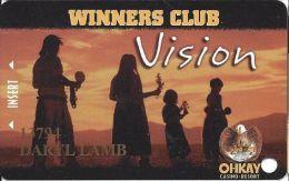 Okhay Casino San Juan Pueblo NM 3rd Issue Slot Card (Printed) - Casino Cards