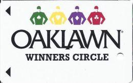 Oaklawn Park Arlington AR Winners Circle Slot Card  (BLANK) - Casino Cards