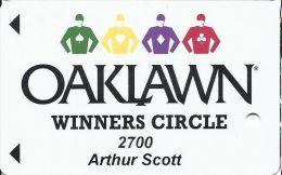 Oaklawn Park Arlington AR Winners Circle Slot Card  (Printed) - Casino Cards