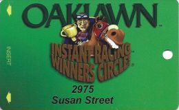 Oaklawn Park Arlington AR Instant Racing Winners Circle Card - Casino Cards