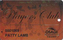 Osage Million Dollar Elm Casino Ponca City OK Slot Card - Casino Cards