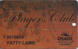 Osage Million Dollar Elm Casino Skiatook OK Slot Card - Casino Cards