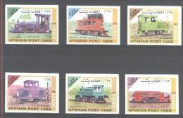 Afghanistan - Mi-Nr 1849/1854 Satz Postfrisch Geschnitten / Set Imperforated MNH ** - Eisenbahnen