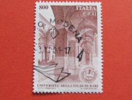 ITALIA USATI 2001 - UNIVERSITÀ´ DEGLI STUDI DI BARI - SASSONE 2568 - RIF. G 2241 LUSSO - 6. 1946-.. Repubblica