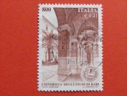 ITALIA USATI 2001 - UNIVERSITÀ´ DEGLI STUDI DI BARI - SASSONE 2568 - RIF. G 2242 LUSSO - 6. 1946-.. Repubblica