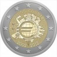 Nederland 2012     2 Euro Commemo    10 Jaar Euro    UNC Uit De Rol  UNC Du Rouleaux  !! - Paesi Bassi