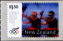 SPORTS-RAFTING-OLYMPICS-SEOUL 1988-TWO DIAMENSIONAL STAMP-NEW ZEALAND-MNH-B6-753 - Rafting