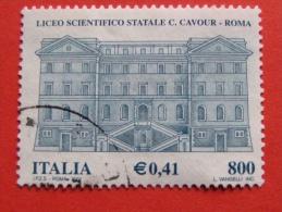 ITALIA USATI 2001 - LICEO SCIENTIFICO CAVOUR ROMA - SASSONE 2567 - RIF. G 2243 LUSSO - 6. 1946-.. Repubblica