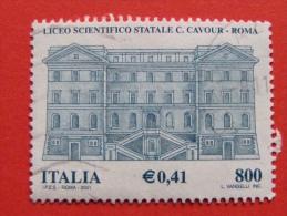 ITALIA USATI 2001 - LICEO SCIENTIFICO CAVOUR ROMA - SASSONE 2567 - RIF. G 2244 LUSSO - 6. 1946-.. Repubblica