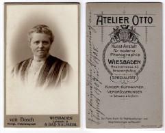 Wiesbaden - CDV Unbekannte Frau Von 1908 - Fotos