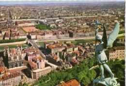 Lyon Vue Generale Prise De La Fourviere Statue De Saint Michel CPSM Ou CPM - Otros