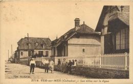 14 Ver Sur Mer, Les Villas Sur La Digue, Groupe De Résidents..., Affranchie 1934 - Other Municipalities