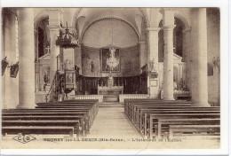 Carte Postale Ancienne Neurey - L'Intérieur De L'Eglise - France