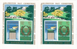 Khor Fakkan 1967, Arlington Cenerery Kennedy 2 Souv.Sheets PERF+IMPERF,MNH ,early Issue-SKRILL PAY ONLY - Khor Fakkan