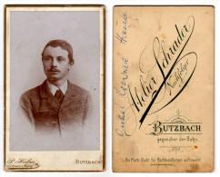 Butzbach - CDV Atelier Paul Halm  Abgebildet Onkel Konrad Haub - Alte (vor 1900)