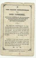 Doodsprentje  *  Vanriebeke Louis (° Brussel  1842  / + Oostende 1871) X - Religion & Esotericism