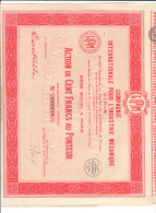 Action De 100 Francs  COMPAGNIE INTERNATIONALE POUR L' INDUSTRIE MECANIQUE - Actions & Titres