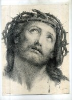 - TÊTE DE CHRIST . LITHO DU XIXe S. DECOUPEE . - Religione & Esoterismo