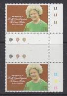 Falkland Islands 1980 80th Birthday Queen Mother 1v Gutter (margin)  ** Mnh (26581A) - Falklandeilanden