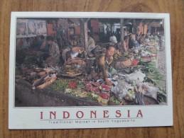 50456 POSTCARD: INDONESIA: Traditional Market In South Yogyakarta. - Indonesia