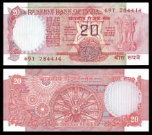 India 20 RUPEES ND 1975 P 82g UNC  (Inde,Indien,Indië) - Inde