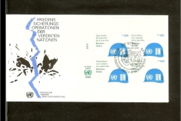 1980 - VN/UNO Geneva FDC Mi. 91 (4xE) - UN Peace Keeping Operations [A61_96] - FDC