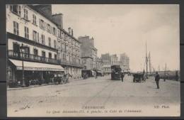 Cpa 50 -CHERBOURG - Quai Alexandre III - Café De L'Amirauté   ( Ref Ch 115 ) - Cherbourg