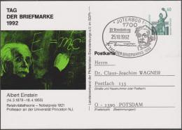Allemagne 1992. Privatganzsache, Entier Postal Timbré Sur Commande. Einstein, E=MC2, Nobel 1921 Relativité - Albert Einstein
