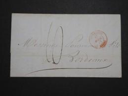 """FRANCE - Cachet """" Outremer Le Havre """" En Rouge Sur Lettre ( Avec Texte ) De Buenos Aires En 1845 - A Voir - Lot P14233 - Poststempel (Briefe)"""