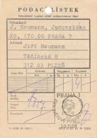 K5166 - Czechoslovakia (1988) Praha 1: Stamp Exhibition PRAGA 88; Day Of World Postal Union - UPU (Postal Receipt) - UPU (Union Postale Universelle)
