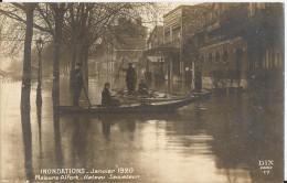 Carte Photo - Maisons Alfort - Inondations De Janvier 1920 - Bateau Sauveteur - Rare - Maisons Alfort