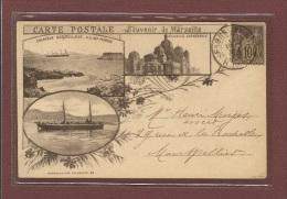 MARSEILLE (13) ## TOP ## PRECURSEUR 1894 ## SOUVENIR DE MARSEILLE - CALANQUE, ILE DES PENDUS, CATHEDRALE, TORPILLEUR - Joliette, Zone Portuaire