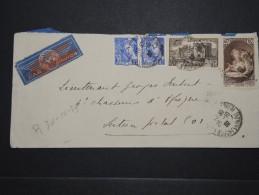 FRANCE - Env. De Marseille Pour La Tunisie Pour Un Soldat En 1939 Par Avion ( étiquette ) - A Voir - Lot P14244 - Marcofilia (sobres)