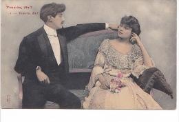 25484 -deux 2 Cpa- Veux Tu Dis ? Oh Oui -ed Prince - Couple Amoureux Baiser -! état ! - Couples