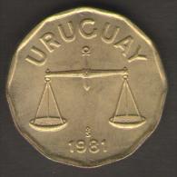 URUGUAY 50 CENTESIMOS 1981 - Uruguay