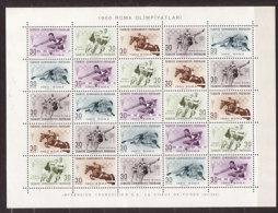 Türkei , Zd - Bogen , 1960 , Mi.Nr. 1769 - 1793 ** / MNH - 1921-... Repubblica