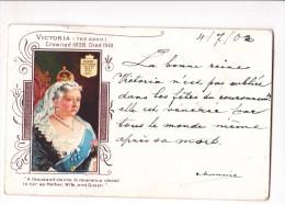 Cpa REINE VICTORIA Veneree Meme Apres Sa Mort Couronnement Edouard VII - Personnages